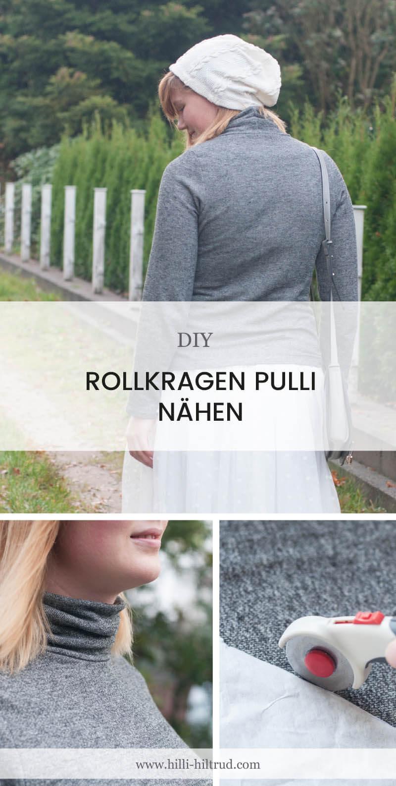 DIY Rollkragenpullover nähen - Tutorial Time • Hilli Hiltrud