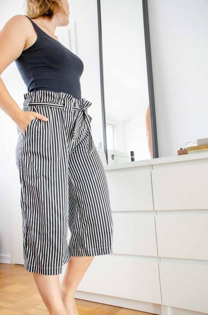 Culotte #seweasy zum selbernähen für die DIY Capsule Wardrobe. Ein Must-Have Kleidungsstück für meine Capsule Wardrobe.