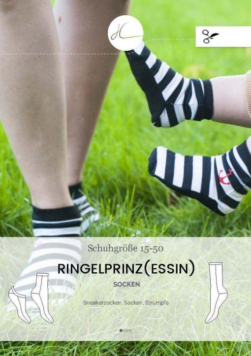 Jersey Stoffreste Idee: Socken nähen nach dem Schnittmuster Ringelprinz(essin) von Hilli Hiltrud