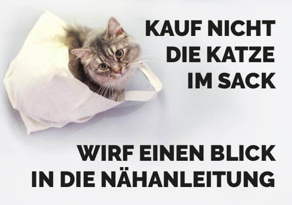 Kauf nicht die Katze im Sack
