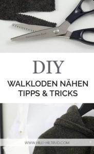 Nähen mit Wollwalk Tipps und Tricks