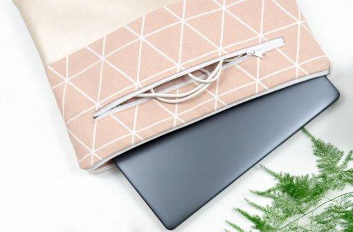 Laptoptasche in rosa mit Extrafach