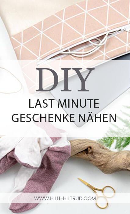 Last Minute DIY Geschenke nähen - Eine Sammlung von sinnvollen, schnell genähten Accessoires zum Selbernähen.