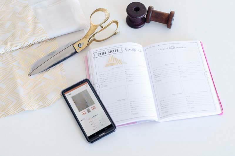 App und Organizer zum Katalogisieren von Stoffen