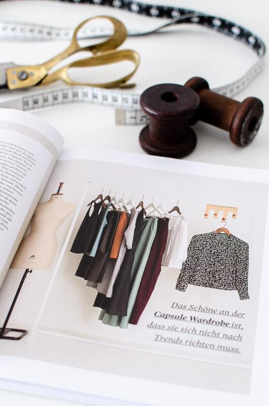 """Blick ins Buch und ein Fazit: """"Nähen Sie Ihre eigene Capsule Wardrobe: 5 Key-Pieces für Ihren persönlichen Stil"""" vom Stiebner Verlag"""