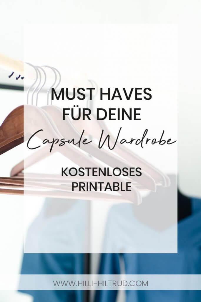 Must Haves für deine DIY Capsule Wardrobe. Mit Freebie / kostenlosem Printable