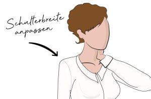 Lerne, wie du dein Schnittmuster auf deine Schulterbreite anpassen kannst. Mit einfachen Tipps & Tricks kannst du dir perfekt passende Kleidung nähen.
