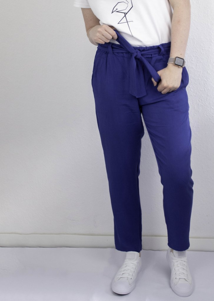 5-Must-Have-Sommerschnittmuster, Hose wrapped in blau