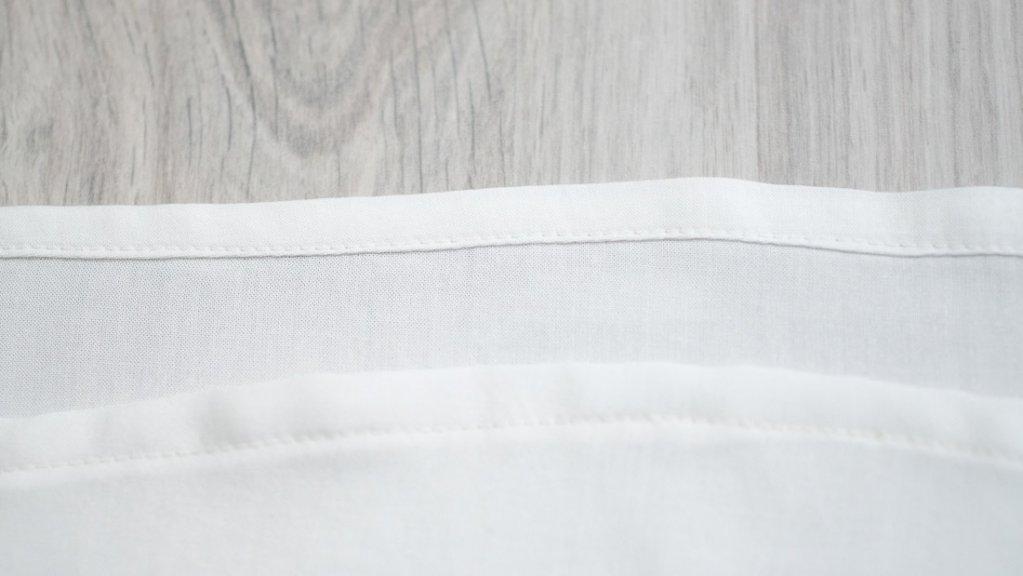 10 Tipps zum Nähen mit Viskose, Einschlag-Umschlagsaum
